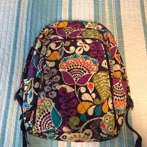 Vera Bradley Laptop Backpack Plum Crazy